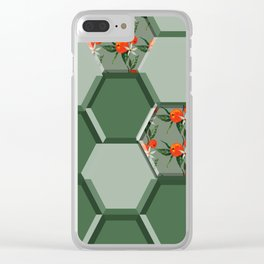 orange soccer ball Clear iPhone Case