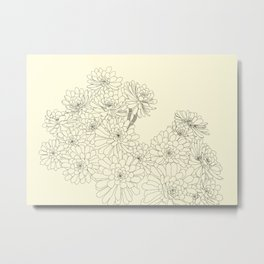 Succulent - Taupe Background Metal Print