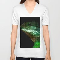scales V-neck T-shirts featuring Digital Scales by DeScepter
