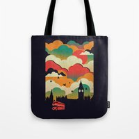 london Tote Bags featuring London by The Child