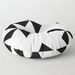 Abstract Spiral Triangles I Floor Pillow