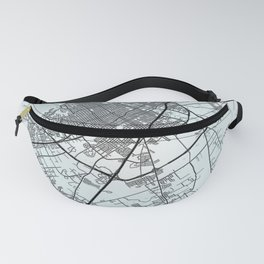 Waco, TX, USA, White, City, Map Fanny Pack