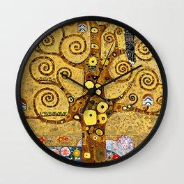 """Gustav Klimt, """" Tree of life """" Wall Clock"""