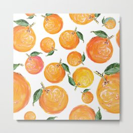 Rome Forest Oranges Metal Print