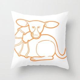 Medieval Cutie Throw Pillow