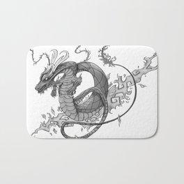 Black and Grey Dragon Tattoo Art Bath Mat