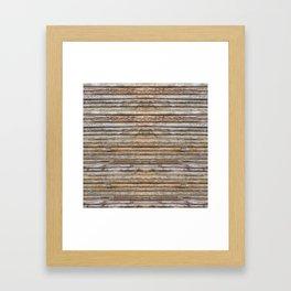 Wood Effects Raw Wood Log Cabin Lodge Rustic Framed Art Print