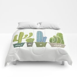 Don't Be A Prick Cactus Comforters