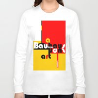 bauhaus Long Sleeve T-shirts featuring Bauhaus Lamp by Simona Susnea