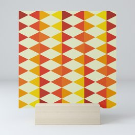 Retro Triangles Pattern Mini Art Print
