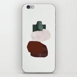 Green square iPhone Skin