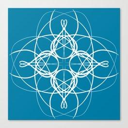 Blue White Swirl Canvas Print