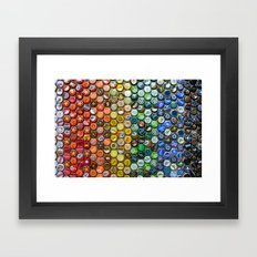 Bottlecap spectrum Framed Art Print