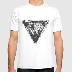 Hip to be Square MEDIUM White Mens Fitted Tee