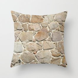 old quarry stone wall Throw Pillow
