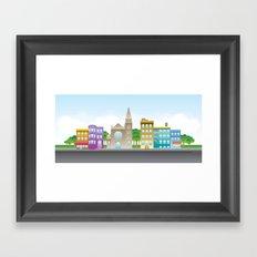 Park Slope Skyline (Color) Framed Art Print