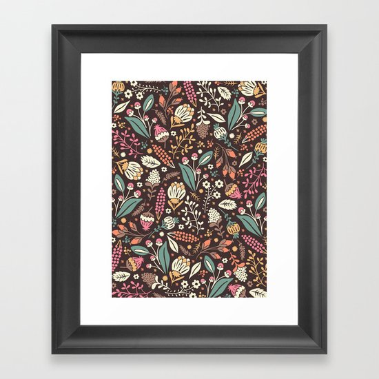 Sweet Flowers Framed Art Print