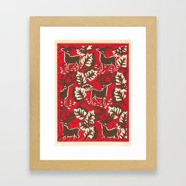 Red Forest Framed Art Print