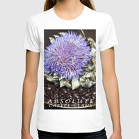 coffe T-shirts featuring Coffe Beans and Blue Flower of Artichoke by CAPTAINSILVA