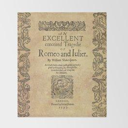 Shakespeare, Romeo and Juliet 1597 Throw Blanket