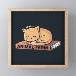 Animal Farm Navy Framed Mini Art Print
