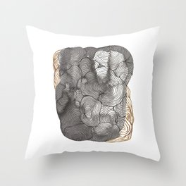 Abstract Ink Drawing Throw Pillow