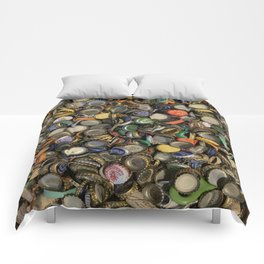 Bottlecap Collage Comforters