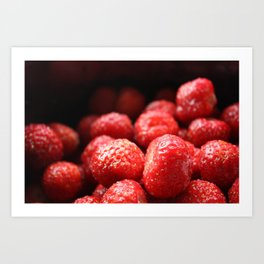 Sweet strawberries Art Print