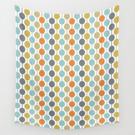 Retro Circles Mid Century Modern Background Wall Tapestry