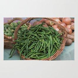 Basket of Fresh Green Beans Rug
