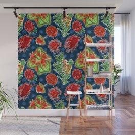 Australian Native Floral Print Wall Mural