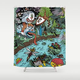 Some of us were born to explore!  Shower Curtain