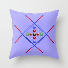 Pool Game Design v3 Throw Pillow