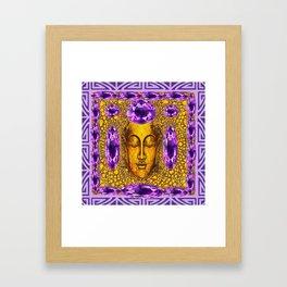 ART NOUVEAU AMETHYST PURPLE & GOLD BUDDHA ABSTRACT Framed Art Print