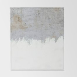 Painting on Raw Concrete Throw Blanket