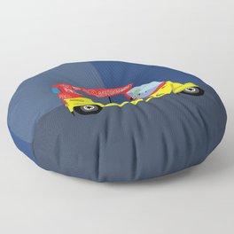 Auto Rickshaw Art Floor Pillow