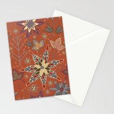 Snowflake Folk Pattern Stationery Cards