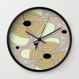 FLOWERY NINA / ORIGINAL DANISH DESIGN bykazandholly Wall Clock