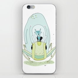 Travel by grasshopper iPhone Skin