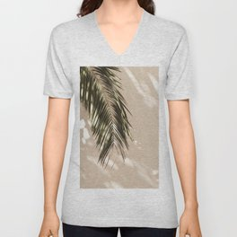 tropical palm leaves vi Unisex V-Neck