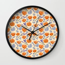 Summer Flowers Wall Clock