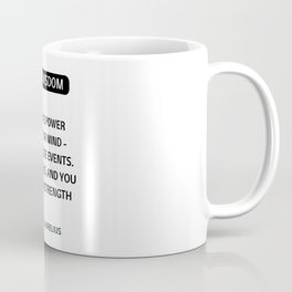 Stoic Philosophy Quotes - You have power over your mind - Marcus Aurelius Coffee Mug