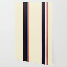 Classic Minimal Racing Car Retro Stripes - Furaribi Wallpaper