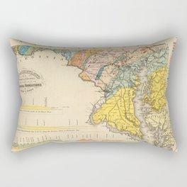 Vintage Geological Map of Maryland (1873) Rectangular Pillow