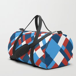 Map 45 Red White and Blue Duffle Bag