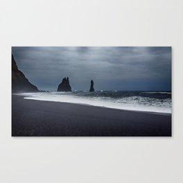 Pinnacles at Black Sand Beach Canvas Print