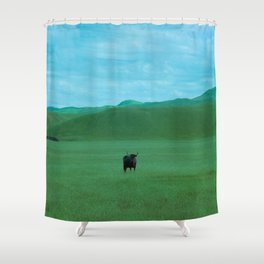 Keeping Distance Shower Curtain