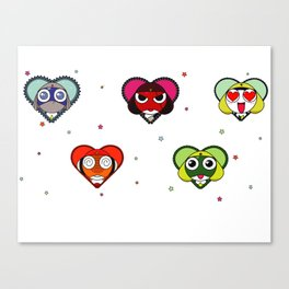 Space Froggos Love You! Canvas Print