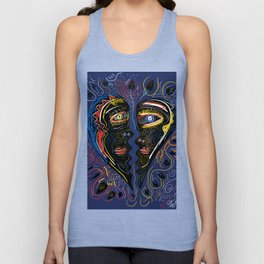 Love is Communication Street Art Graffiti Primitive Art Unisex Tank Top