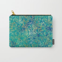 Blue Gold Swirls Carry-All Pouch